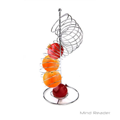 Mind Reader Stainless Steel Twisted Orange Fruit Holder