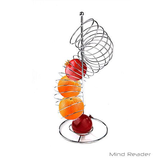Mind Reader Stainless Steel Twisted Orange Fruit Holder