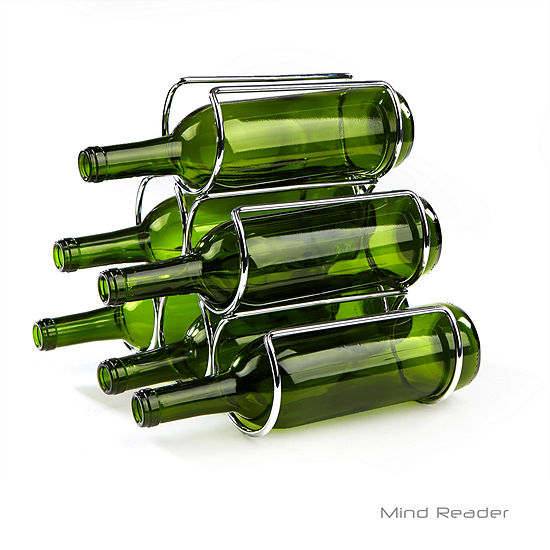Mind Reader Steel-Framed Wine Bottle Holder