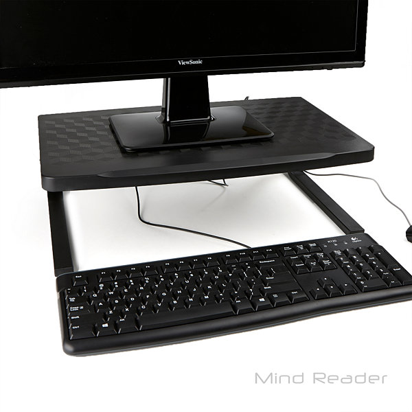 Mind Reader Extra-Wide Metal Monitor Stand / Riser
