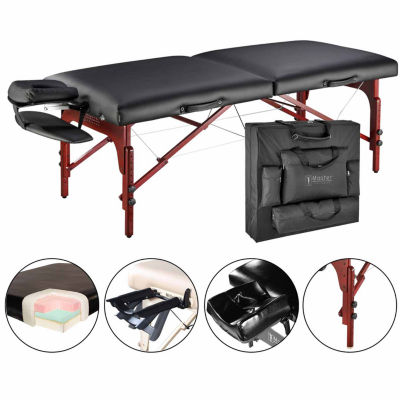 "Master® Massage 31"" Extra Wide Montclair Pro Memory Foam Portable Massage Table Package with Reiki"