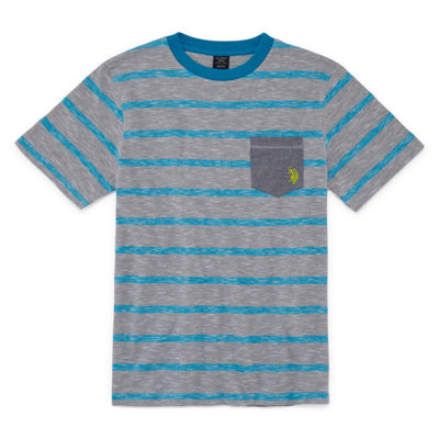 U.S. Polo Assn. Short Sleeve V Neck T-Shirt-Big Kid Boys