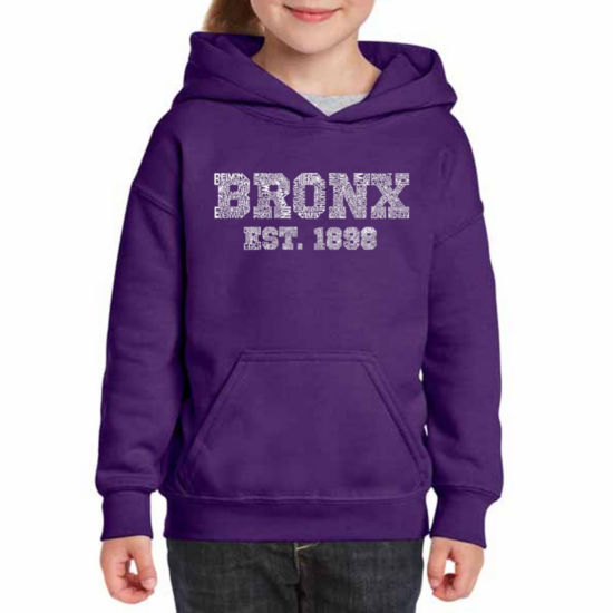 Los Angeles Pop Art Popular Neighborhoods In Bronx; Ny Long Sleeve Sweatshirt Girls
