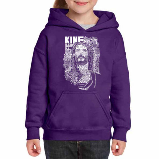 Los Angeles Pop Art Jesus Long Sleeve Sweatshirt Girls