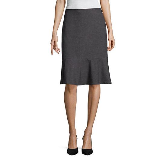 Worthington Suiting Flounce Skirt - Tall
