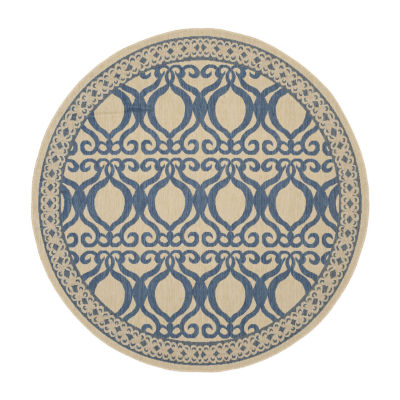 Safavieh Desi Geometric Round Indoor/Outdoor Rugs