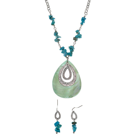 Mixit Boxed Silver Tone Pear 2-pc. Jewelry Set