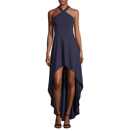Speechless-Juniors Sleeveless High-Low Fit & Flare Dress