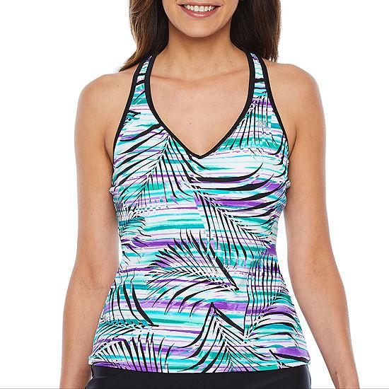 Zeroxposur Leaf Tankini Swimsuit Top