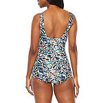 Azul by Maxine of Hollywood Abstract One Piece Swimsuit
