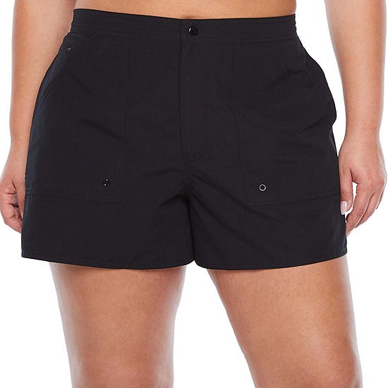 Azul by Maxine of Hollywood Board Shorts Swimsuit Bottom Plus