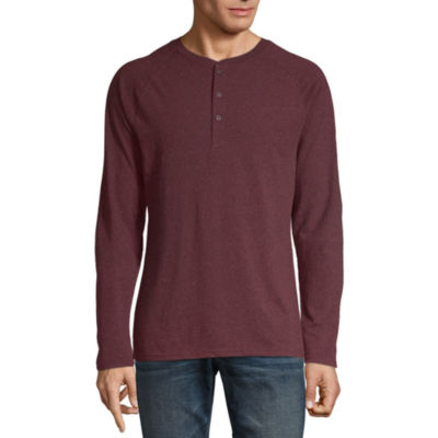 Arizona Mens Long Sleeve Henley Shirt