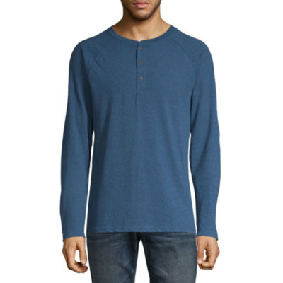 Arizona Mens Long Sleeve Henley Shirt