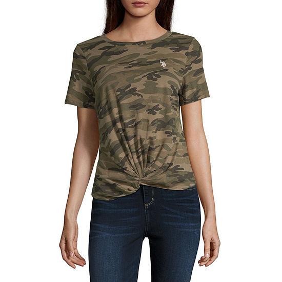 Us Polo Assn. Juniors-Womens Crew Neck Short Sleeve T-Shirt