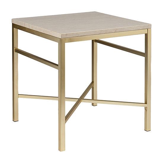 Mevi Faux Stone End Table