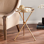 Mexem Mirrored-Metal Accent Table