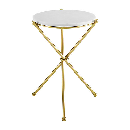 Emassey Marble-Top Accent Table