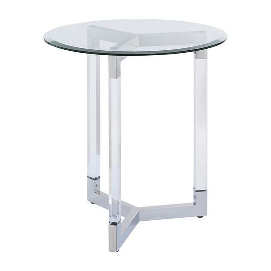 Ombton Round Acrylic Accent Table