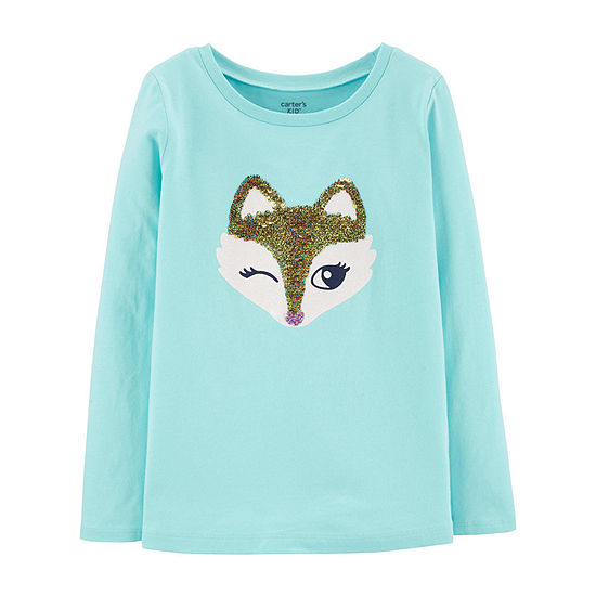 Carter's Round Neck Long Sleeve T-Shirt Preschool / Big Kid Girls