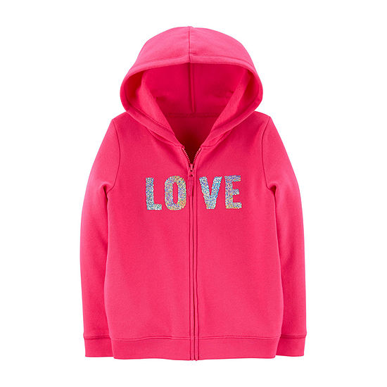 Carter's Girls Fleece Lined Hoodie - Preschool / Big Kid