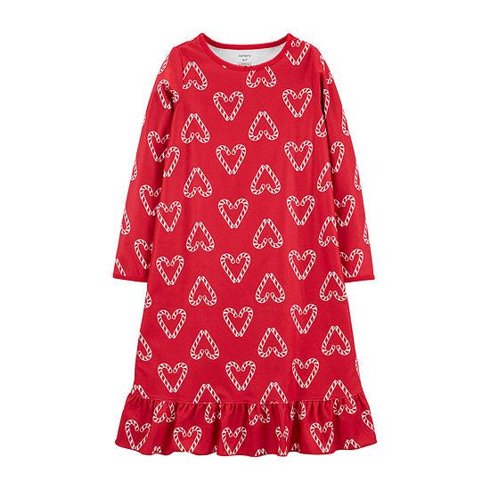 Carter's Girls Fleece Crew Neck Long Sleeve Nightgown