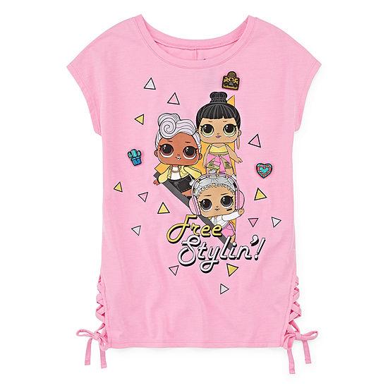 LOL Surprise! Girls Round Neck Short Sleeve LOL Graphic T-Shirt - Preschool / Big Kid
