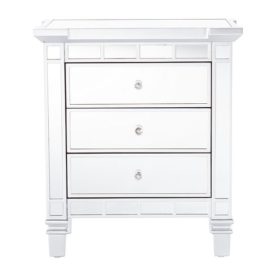 Quashi 3-Drawer Mirrored Accent Chest