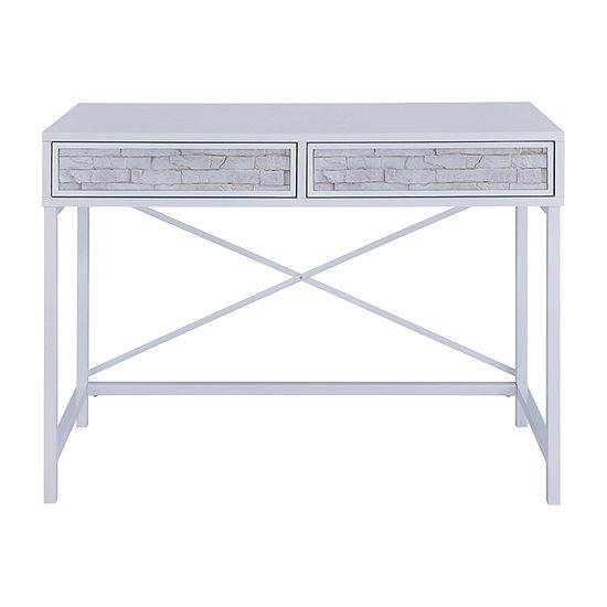 Suzil Faux Stone Console Table