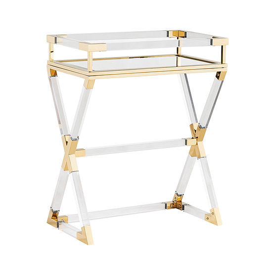 Tracotes Acrylic Serving Tray Table