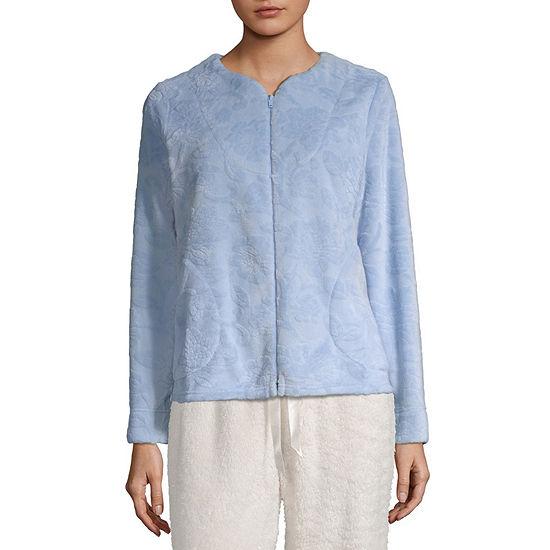 Adonna Womens Fleece Long Sleeve Zip Bed Jacket