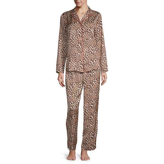 Ambrielle Long Sleeve Womens 2-pc. Pant Pajama Set