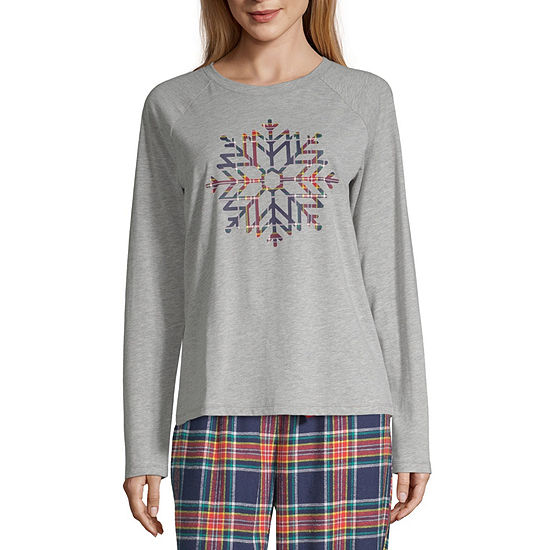 Sleep Chic Womens Round Neck Pajama Top