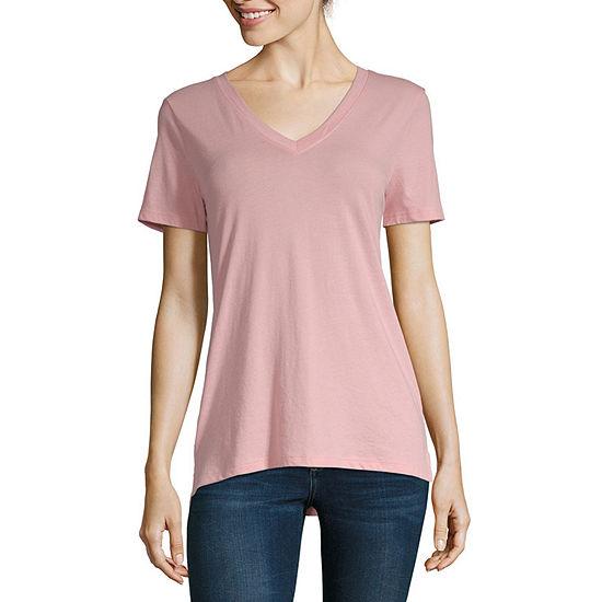 a.n.a-Tall Womens Short Sleeve V-Neck T-Shirt