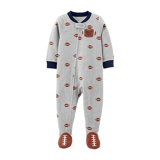 Carter's Long Sleeve Crew Neck Boys One Piece Pajama