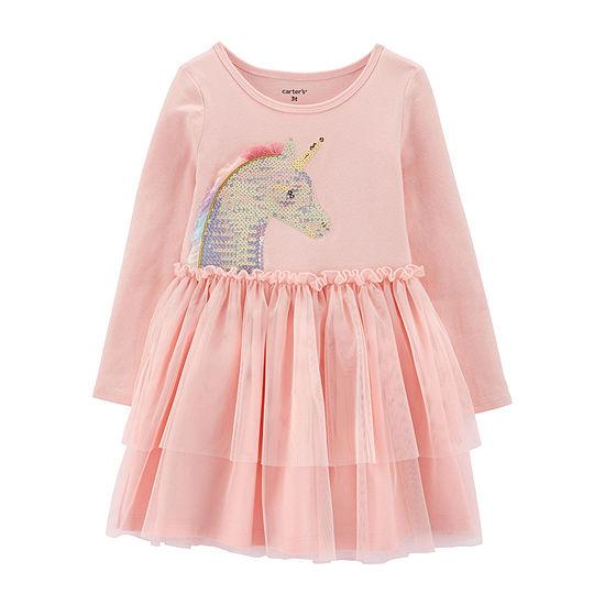Carter's Girls Long Sleeve Tutu Dress - Toddler