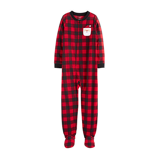 Carter's Christmas Boys Fleece One Piece Pajama Long Sleeve