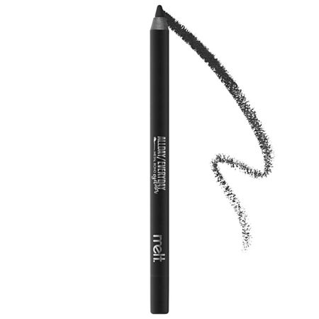 What it is: A long-wearing, waterproof eye pencil in a range of high-intensity, ultra-pigmented shades. Ingredient Callouts: Free of parabens. This product is also vegan, cruelty-free, and gluten-free.What Else You Need to Know: This versatile, creamy formula effortlessly glides on, allowing for a precise application and enough playtime to blend and smudge. Create a bold wing or use it as an eyeshadow basethere are endless ways to play.Suggested Usage:-Use around the eyes, as desired.-Size:0.40 oz / 1.20 gIngredients:Cyclopentasiloxane, Polybutene, Synthetic Wax, Isododecane, Simmondsia Chinensis (Jojoba) Seed Oil, Hydrogenated Cottonseed Oil, Ceresin, Ozokerite, Microcrystalline Wax, Tocopherol, Ascorbyl Palmitate, Phenoxyethanol, Mica, Iron Oxides (Ci 77491, Ci 77492, Ci 77499).