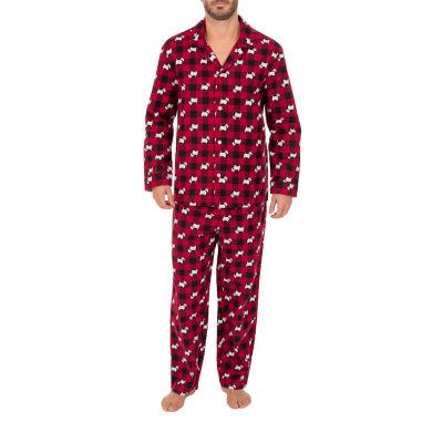 Wembley Scottie Dogs Couples Mens 2-pc. Pant Pajama Set