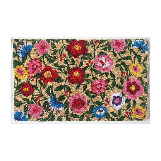 Direct Home Textiles Group Flower Rectangular Outdoor Doormat