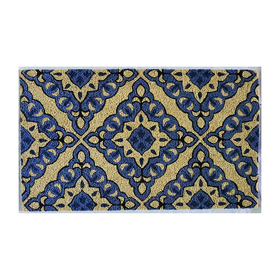 Direct Home Textiles Group Diamond Tile Rectangular Outdoor Doormat