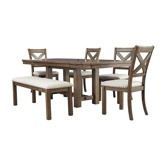 Signature Design by Ashley Kavarna Rectangular Wood-Top Dining Table