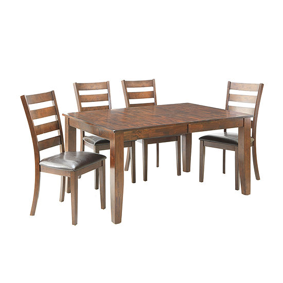 Landry 5-Piece Dining Set with Ladder Back Chairs