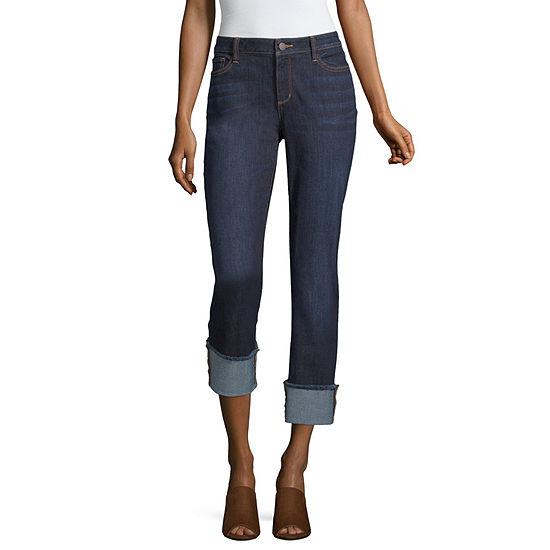 a.n.a Womens Mid Rise Straight Leg Jean