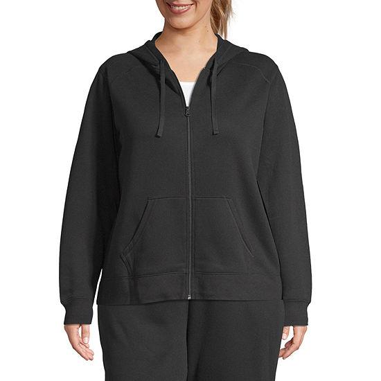 St. John's Bay Active-Plus Womens Long Sleeve Fleece Hoodie