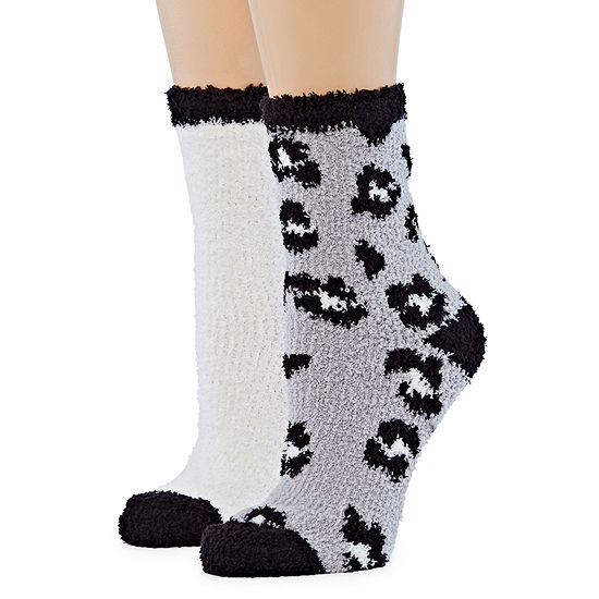 Mixit 2 Pair Cozy Crew Socks - Womens