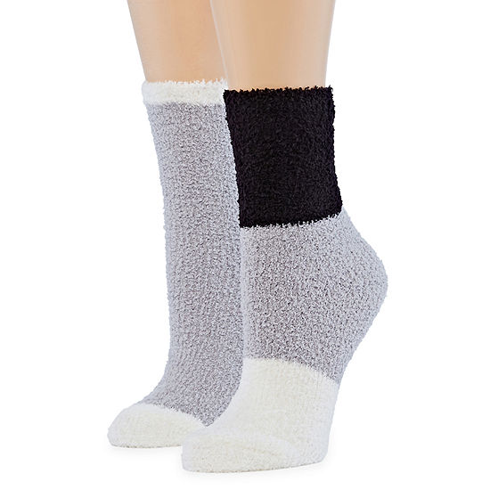 Mixit 2 Pair Cozy Socks-Womens