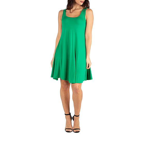 24/7 Comfort Dresses Fit and Flare Knee Length Tank Dress
