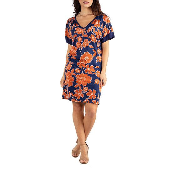 24/7 Comfort Dresses Paisley Sleevless Shift Dress