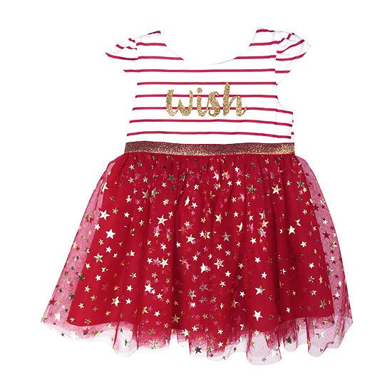 Lilt Girls Short Sleeve Tutu Dress - Baby