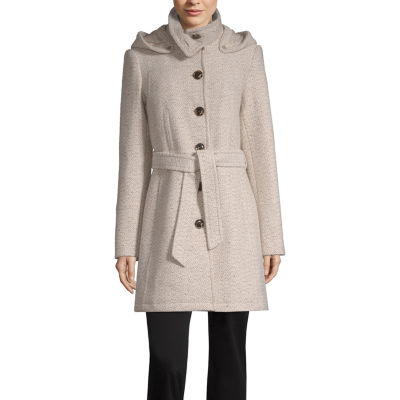 Liz Claiborne Hooded Heavyweight Overcoat